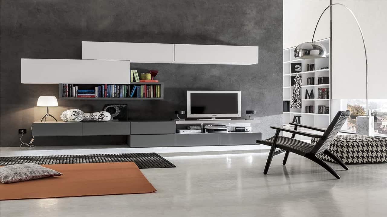 Parete attrezzata bagno mobile soggiorno parete for Parete tv attrezzata